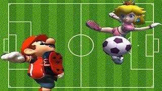 Super Mario Strikers- Flower Cup(Professional)Mario vs Luigi , Yoshi , Peach , Wario , Dk