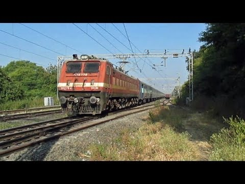 Crazy Wap-4 Kamayani Express On A 110+kmph Dash! video
