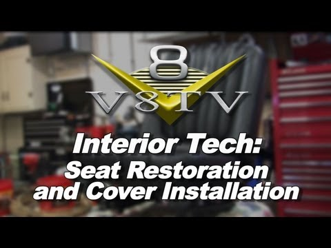 Classic Car Interior Tech: Seat Restoration and Cover Installation V8T
