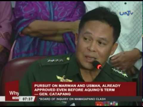 Pursuit on Marwan and Usman, already approved even before Aquino's  term — Gen. Catapang