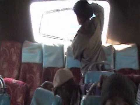 Kenyan Bus Driver shake the Buses untill all windows down very bad