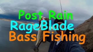 Post Rain Chatterbait Bass Fishing in Slightly Stained Water( All Action)