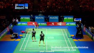 Badminton Top 5 Rallies - Ahsan & Setiawan vs Endo & Hayakawa - All England 2014 MD Finals
