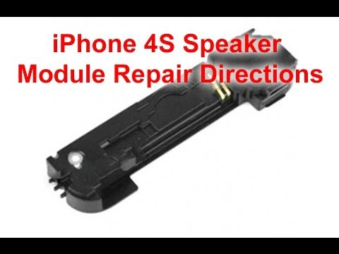iPhone 4S Speaker Module Repair Directions   DirectFix