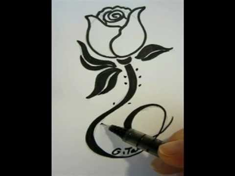 How to draw a pretty rose youtube for Pretty rose drawings