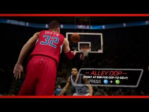 NBA 2K13: All New Controls Trailer   How to Self Alley Oop   Full Breakdown Ft Blake Griffin