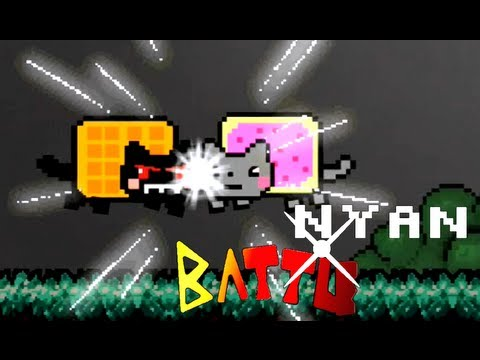Nyan Cat And Waffle Cat Nyan Cat vs Tac Nayn