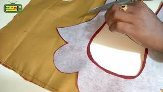 How to make Designer Blouse at Home-91|Designer Bridal Back Neck Blouse Pattern - 2018|stitching