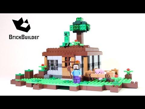 Lego Minecraft 21115 The First Night - Lego Speed Build