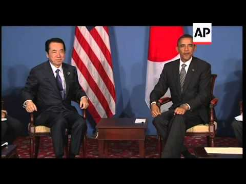 Obama meets Japan PM Kan, Russia envoy on Syria