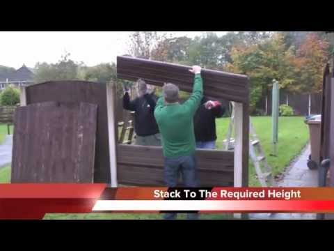 Installing Eco Fencing Into Existing Concrete Posts Youtube