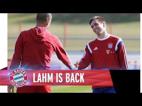 Philipp Lahm zurück im Mannschaftstraining