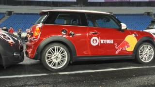 competencia de mini coopers en china incrible lo gana red bull