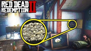 *SECRET* HOUSE FILLED WITH MONEY AND... in Red Dead Redemption 2! Easy Money RDR2!