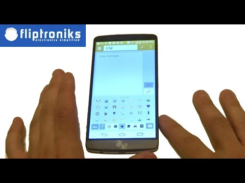 LG G3: How to Insert Emojis / Smiley Icons into a Text Message - Fliptroniks.com