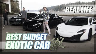 """Best """"Budget"""" Exotic Car Challenge! Mountain Roads, The Mall, More! (Part 2)"""