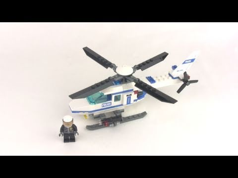 lego city police helicopter 7741 set review youtube