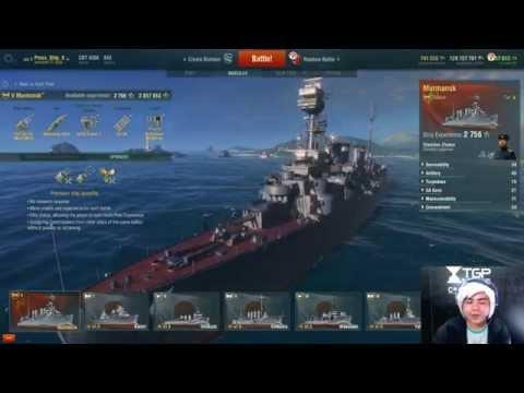 World of Warship New U.S.S.R. Cruiser Murmansk LIVE