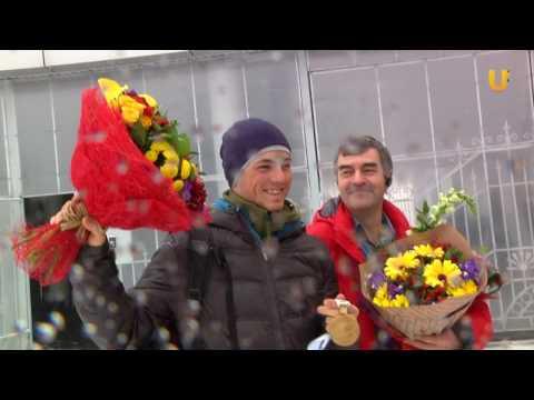 UTV. Биатлонист Антон Бабиков вернулся в Уфу чемпионом мира