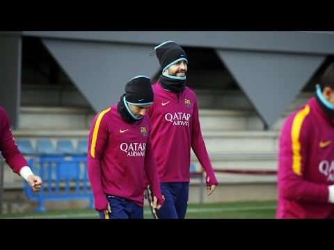 FC Barcelona training session: Training for cup quarter final