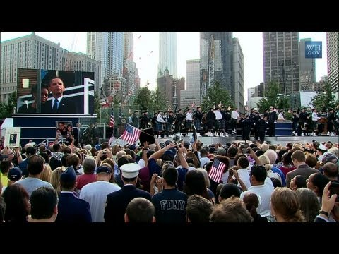 President Obama Attends 9/11 Memorial Service in NYC
