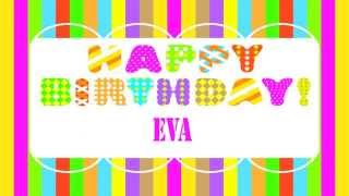 Eva    english pronunciation   Wishes & Mensajes - Happy Birthday