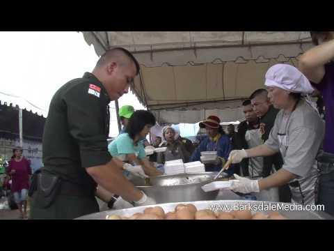 Ayutthaya, Thailand Flood Emergency, October 12th, 2011 Part 1