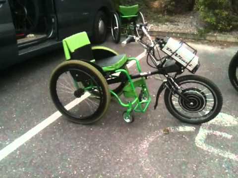Electric bike adaption for wheel chair