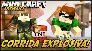Minecraft: CORRIDA EXPLOSIVA! (SKYWARS)