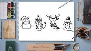 Học Vẽ, Bé tô màu con vật dễ thương, Let's drawing cute animals