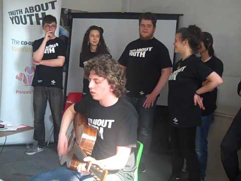 Miles Ratcliffe performing 'Truth about Youth' song in Bristol
