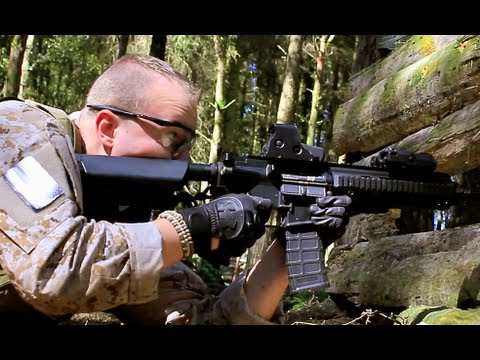 Airsoft War G&P M4. G&G M4. L85 MP5 Scotland HD