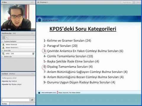 Uzaktaneğitim 2012 kpds soru çözüm teknikleri video dersler