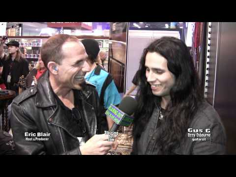 Ozzy Osbourne guitarist GUS G talks with Eric Blair @ Namm 2012