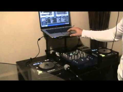 FINALLY I GOT TO SETUP MY DJ EQUIPMENT WITH MY LAPTOP