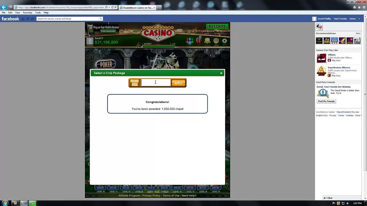 Million dollar promo codes for doubledown casino kakerlaken poker royal