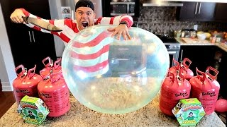 WUBBLE BUBBLE HELIUM EXPERIMENT!! (THIS BALLOON CAN NOT BE POPPED) IMPOSSIBLE CHALLENGE