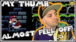 Thumbshredder: An INSANELY DIFFICULT Super Mario Shell Jump Level By GlitchCat