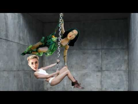 Katy Perry   Roar Official Parody Miley Cyrus   Wrecking Ball rehearsal training