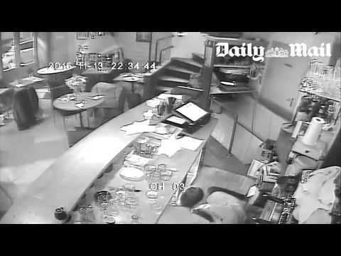 Attentats Paris : Vidéo-surveillance d'un des restaurants