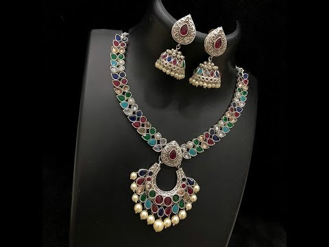 ARTIFICIAL STONE WORK FANCY NECKLACE DESIGNS || DESIGNER NECKLACE SET COLLECTIONS
