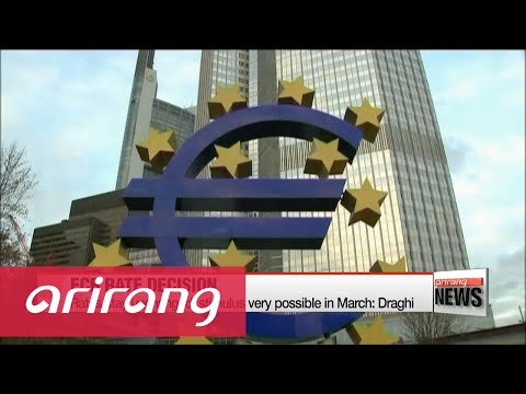 Euro tumbles, stocks jump after strong hint at more ECB easing in March