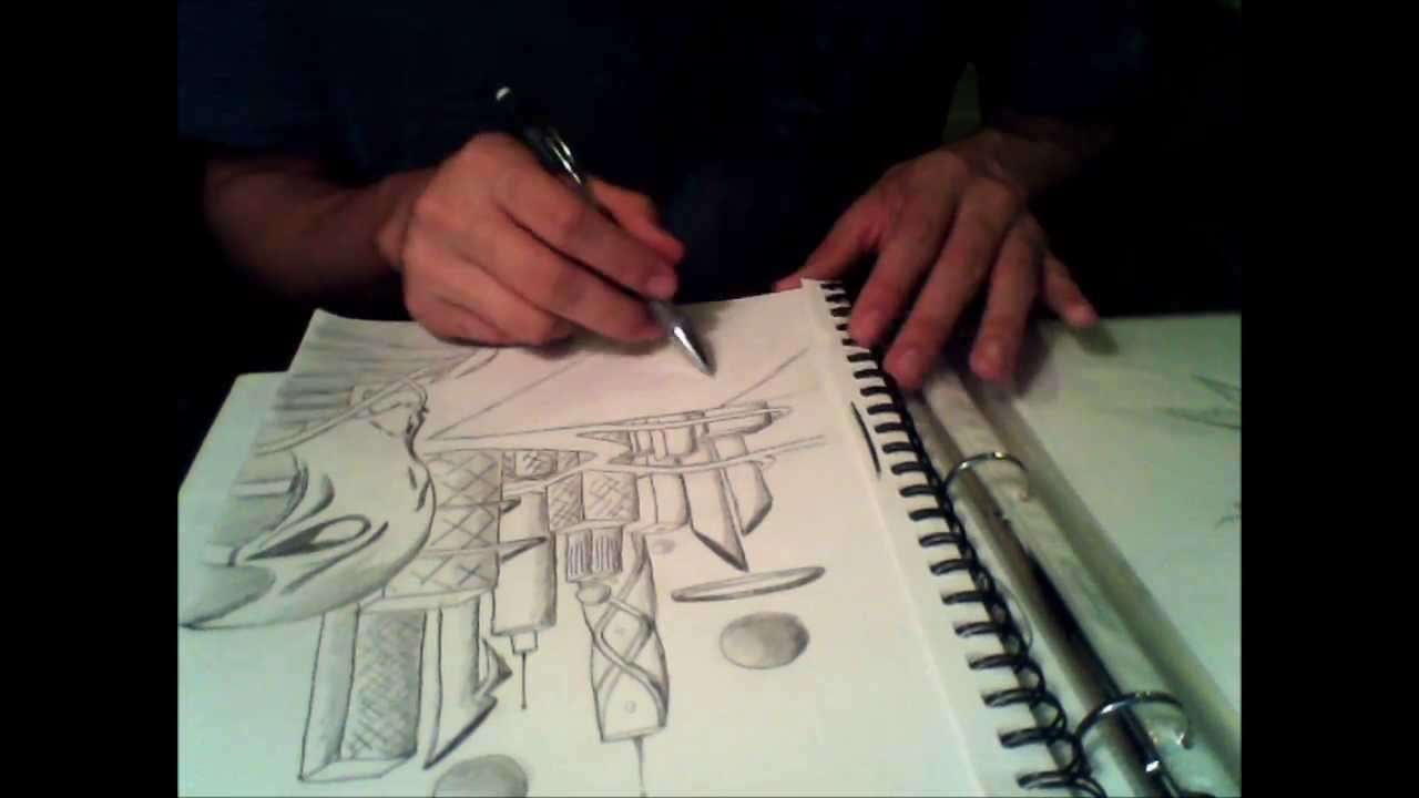 Futuristic City Drawing Speed Drawing Futuristic