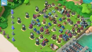 Boom Beach — JessieZX7 destroying  咖啡&MC, 1st global leaderboard player; warriors & heavies [2]