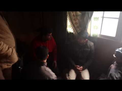 Salman Nizami meets flood hit people. #Kashmir