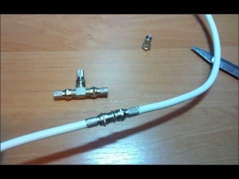 Как антенный кабель сделать на 2 телевизора