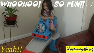 Thomas the Tank Engine Up & Down Roller Coaster Unboxing & Playtime 3 of 3