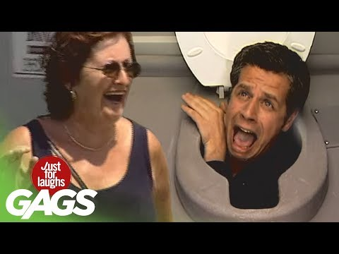 Head In The Toilet Prank - Just For Laughs video