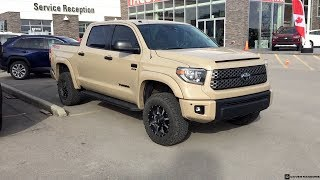 Lifted 2019 Quicksand Toyota Tundra TRD Off Road Crew Max on 285/65R18 Tires
