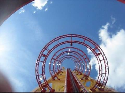 Hollywood Rip. Ride. Rockit Front Seat on-ride POV Universal Studios Florida